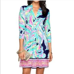 NWT Lilly Pulitzer Margate Dress XS Don't Leave Me